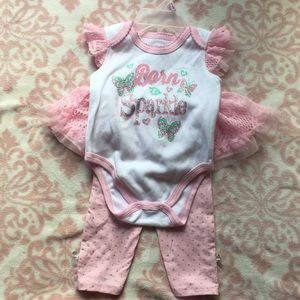 Other - 3/$15 Baby Girl 3-6 month pink tutu outfit NWOT